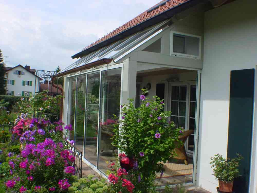 überdachte Terrasse als Wintergarten
